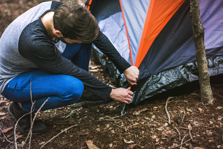 lluvia, camping